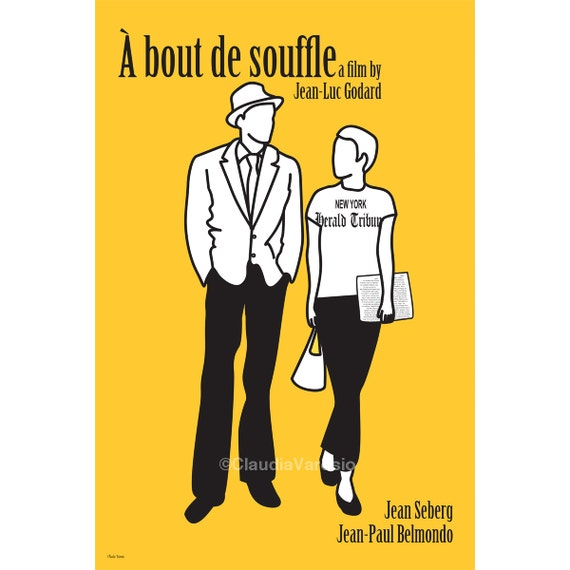 Film poster A bout de Souffle, or Breathless 12x18 inches print