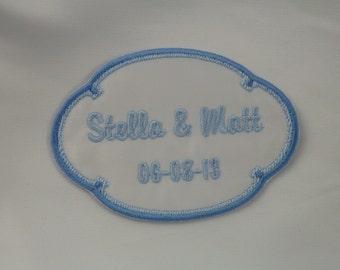 Wedding Dress Label Two Tone