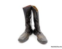 Imperial Biltrite Boots, Leather Zipper Back with Button Strap