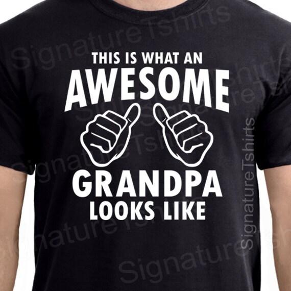 Grandpa shirt awesome grandpa tshirt t shirt new grandparent granddad