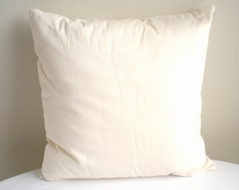 "Organic Throw Pillow Insert - Eco Friendly Throw Pillow - 18"" x 18"" - Pillow Form"