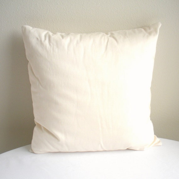 Decorative Pillow Forms : Organic Throw Pillow Insert Eco Friendly Throw by IslandPicnic