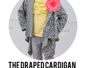 The Draped Cardigan Pattern PDF in Girls Sizes 18 months - 14
