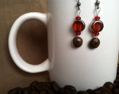 Coffee Bean Earrings - Red-y, Set, Go - Authentic Fair Trade Coffee Bean Earrings...FREE SHIPPING