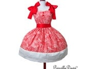 Party Pop in Pink Cake Dress with Hearts Inspired for Teaparty or Special Occasion Custom in your size