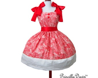 Summer sALE Party Pop in Pink Cake Dress with Hearts Inspired for Teapartyn Custom in your size