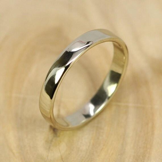14k palladium white gold band 3mm smooth texture wedding ring