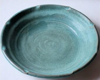Vermont Made Pie Plate Nine Inch Stoneware in Cerulean Blue