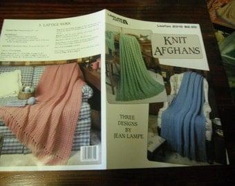 Knit Afghan Pattern Leaflet Knit Afghans Leisure Arts 2315 Knitting Pattern Leaflet Jean Lampe