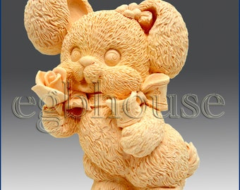 2D Silicone Soap Mold - Honey Bunny - free shipping