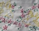 Sew Pretty Pillowcases - Yellow Birds - Set of 2