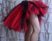 Red Black Goth Trashy Knee Length Bustle TuTu Adult All Sizes MTCoffinz