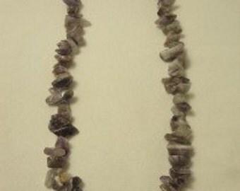Amethest gemstone necklace
