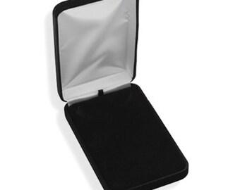 Necklace Box, Necklace Display Box, Necklace Storage Box, Deluxe Necklace Box, Necklace Travel Box, Black Velvet Necklace Box, Jewelry Box