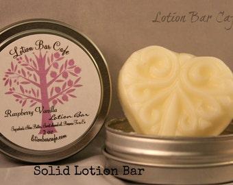 Solid Lotion Bar -Raspberry Vanilla