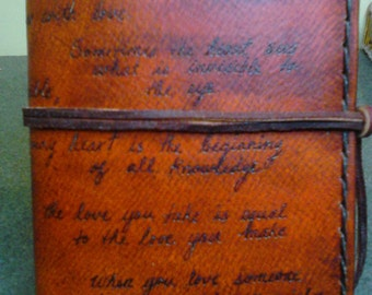 Leather Journal Words of Love