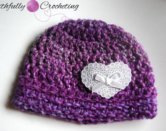 Newborn Beanie... Ready to ship...Valentines Day special listing... Photography Prop