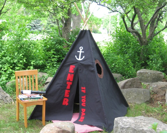 Teepee, Kids Tent, Canvas, 6 Foot Poles, Pirate Hideout, Read Description to SAVE 10%