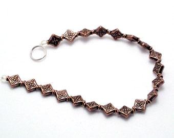 20 Diamond Beads 9 x 10mm Antiqued Copper Base Metal Lead/Nickel Free 306B CT