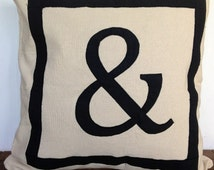 30% OFF Reversible Personalized letter throw pillows-18 inches- Monogram Pillows, customized in any two letters or symbols
