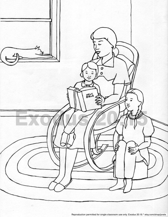 85 Coloring Pages Child Reading Bible