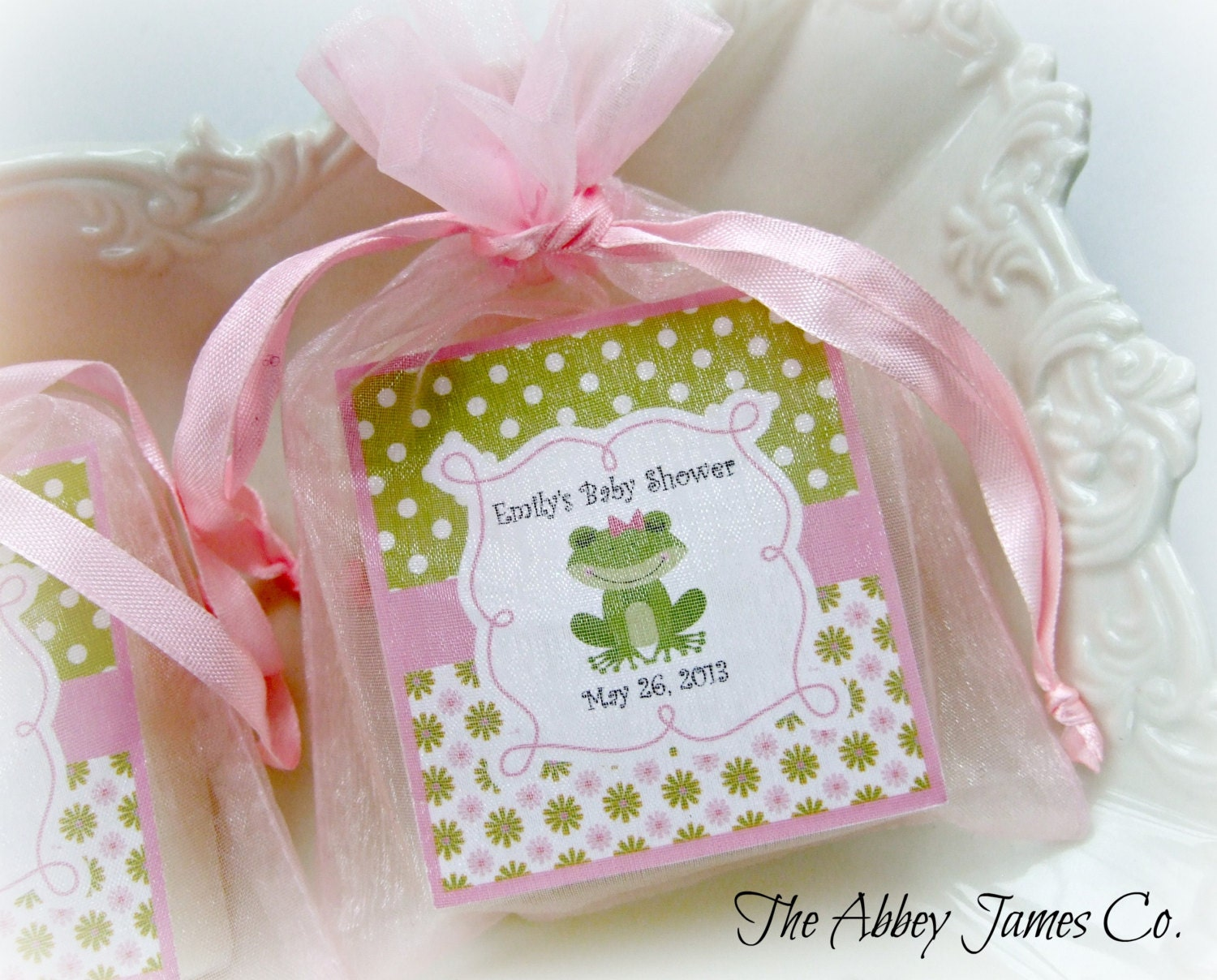 baby shower favors party favors soap favors frog set of 10