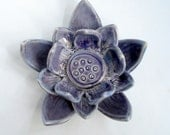 Large Purple Lotus - candle or tea light holder Made to order