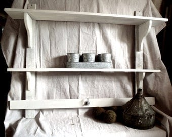 Swedish Inspired Wall Shelf Reclaimed Salvage