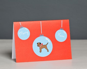 Border Terrier Christmas Card - Dog Christmas Card - Dog Card - Terrier Card