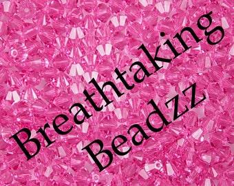 Swarovski Crystal Beads 24 Rose 6mm Bicone 5328 Many Colors In Stock