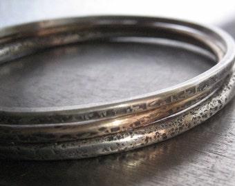 Tapestry Bangle/Sterling Silver Bracelet