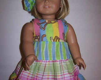 tiered dress with matching hat