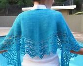 Marina Crescent shaped Shawl - PDF Tunisian crochet pattern