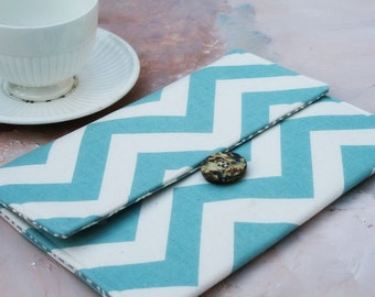 iPad Cover, Padded ipad Case Sleeve, Gadget Cases & Covers for ipad 1, 2, 3 and ipad mini  in Blue Chevron