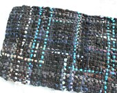 Potholder Rug 3 X 5 - Navy Cotton with Turquoise