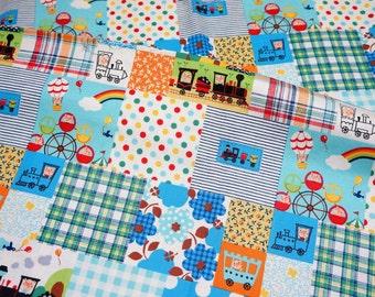Animal playground print japanese fabric   nc14