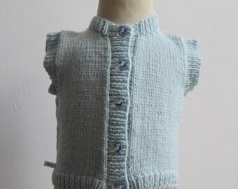 Hand Knit Baby Vest