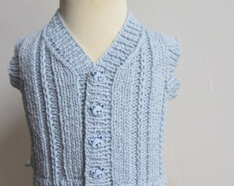 Hand Knit Baby Sweater Vest