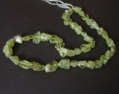Peridot Nugget beads, freeform various sizes nice deep yellowish green color        1063-006-001