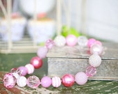Princess Pink Chunky Necklace for Girls By Dreamspun