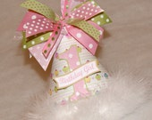 SALE!  Pink and Lime Cupcake Princess and Polka Dot Party Hat