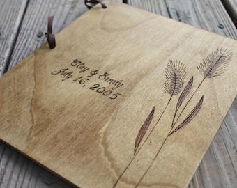 Custom Wedding Guest Book - Wheat