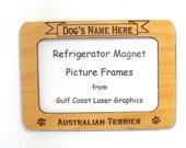 Australian Terrier Dog Magnet Picture Frame