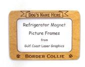 Border Collie Dog Magnet Picture Frame