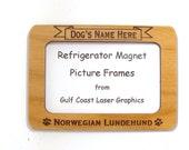 Norwegian Lundehund Dog Magnet Picture Frame