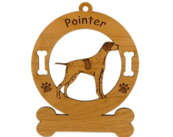 3715 Pointer Standing Personalized Dog Ornament