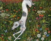 The Last Dance at Sunset - Whippet Art Print