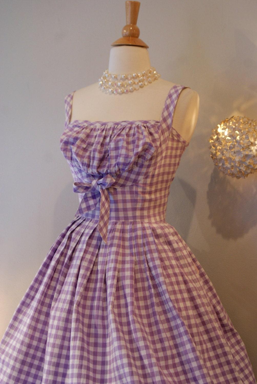 50s Dress Vintage 1950s So Cute Gingham Dress