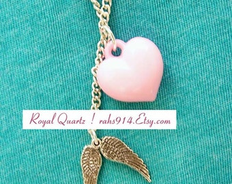 Angelic Heart necklace . A cute gift for girls and women