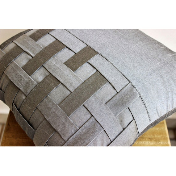 thehomecentric - Decorative Euro Sham Covers Couch Pillow Sofa 26 Inch Silk Euro Sham Cover with ...